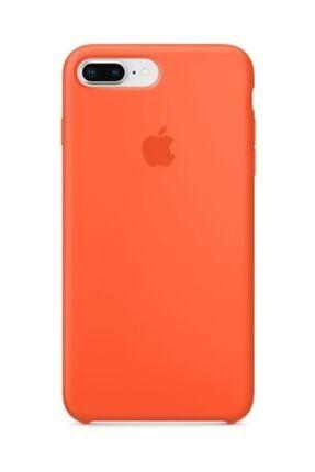 Apple Iphone 7 Plus Turuncu Silikon Kılıf 2
