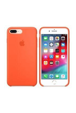 Apple Iphone 7 Plus Turuncu Silikon Kılıf 3