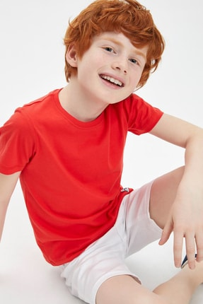 Defacto Erkek Çocuk Basic Tişört 2
