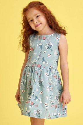 Defacto Kız Çocuk Çiçek Baskılı Kolsuz Elbise 0