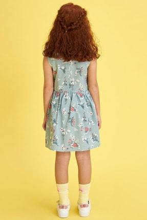 Defacto Kız Çocuk Çiçek Baskılı Kolsuz Elbise 3