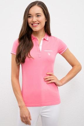 US Polo Assn Pembe Kadin T-Shirt 0
