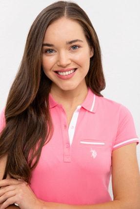 US Polo Assn Pembe Kadin T-Shirt 1