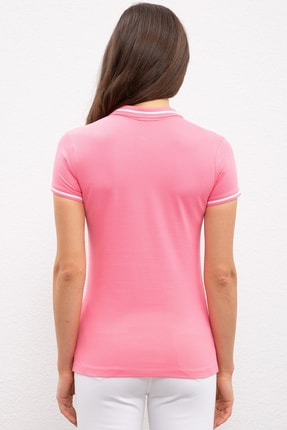 US Polo Assn Pembe Kadin T-Shirt 2