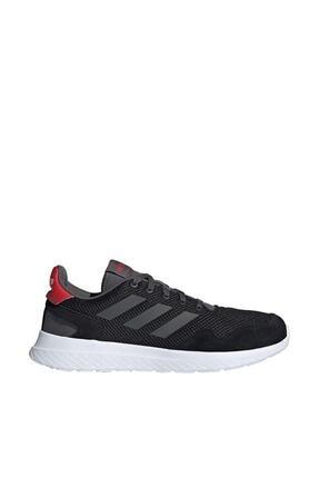 adidas Erkek Siyah Bağcıklı Koşu Ayakkabısı 0