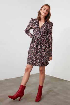 TRENDYOLMİLLA Çok Renkli Çiçek Desenli Elbise TWOAW21EL2013 1