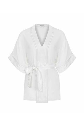 İpekyol Kadın Kırık Beyaz Düşük Kol Bluz 3