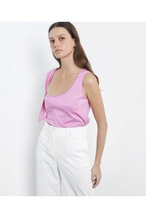 İpekyol Kadın Pembe Askı Detaylı Tshirt 1