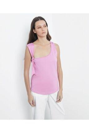 İpekyol Kadın Pembe Askı Detaylı Tshirt 2