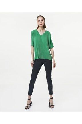 İpekyol Kadın Yeşil V Yaka Tshirt 1