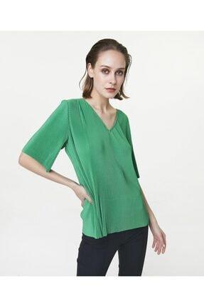 İpekyol Kadın Yeşil V Yaka Tshirt 2