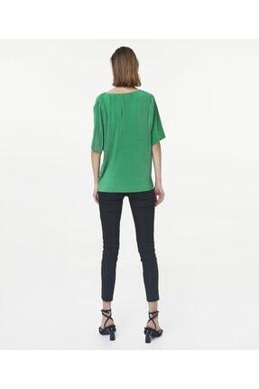 İpekyol Kadın Yeşil V Yaka Tshirt 3