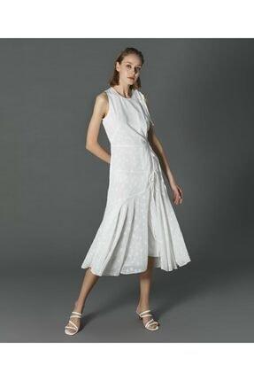 İpekyol Kadın Ekru Yıldız Desenli Elbise 0