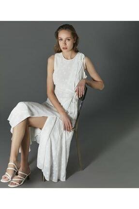 İpekyol Kadın Ekru Yıldız Desenli Elbise 1