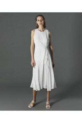 İpekyol Kadın Ekru Yıldız Desenli Elbise 2