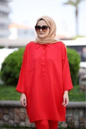SEDA TİRYAKİ Kadın Kırmızı Alt Üst Takım 10265232 1