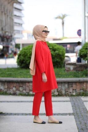 SEDA TİRYAKİ Kadın Kırmızı Alt Üst Takım 10265232 2