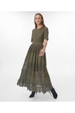 İpekyol Kadın Haki Transparan Güpür Elbise 2