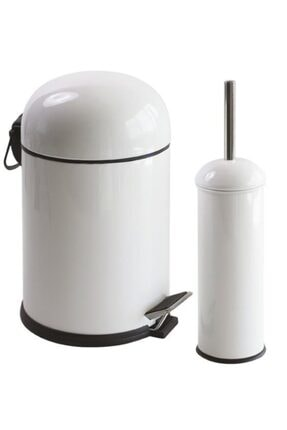 Foreca Bon 2 Li Çöp Kovası Banyo Seti Beyaz 0