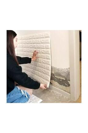 Renkli Duvarlar Kendinden Yapışkanlı 8,5 Mm Kalınlık Nw01 70x77 Cm 8,5mm Sünger Beyaz Tuğla Duvar Paneli 1 Adet 2