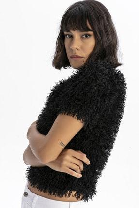 modavingo Kadın Siyah Püsküllü Bluz 1
