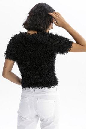 modavingo Kadın Siyah Püsküllü Bluz 3