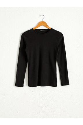 LC Waikiki Kadın Siyah T-shirt 0