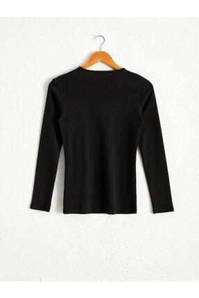 LC Waikiki Kadın Siyah T-shirt 2