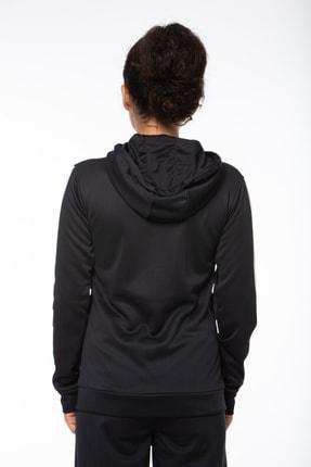 Lotto Sweatshirt ;kadın ;siyah-fleece Sweat Fz Hd Pl W-r9642 4
