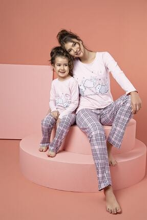 Siyah İnci Pamuklu Likrali Pijama Takım 0