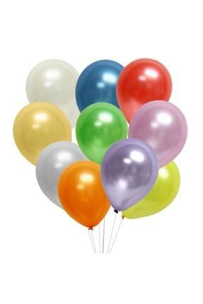 araget Metalik Latex Balon Fuşya Renk 10 Adet 2