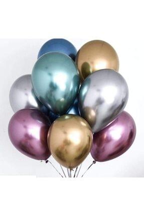 araget Krom Parlak Balon 16 Inç Gümüş Renk 40 Cm. Mirror Ayna Balon 5 Ad 3