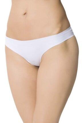 Picture of Kadın Beyaz Lazer Kesim Iz Yapmaz Pamuklu Bikini Külot 3'lü Paket