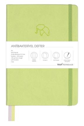Matt Notebook A5 Antibakteriyel Defter Noktalı Açık Yeşil 0
