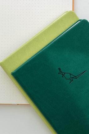 Matt Notebook A5 Antibakteriyel Defter Noktalı Açık Yeşil 3
