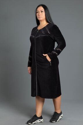 New Color Kısa Fitilli Kadife Elbise 1