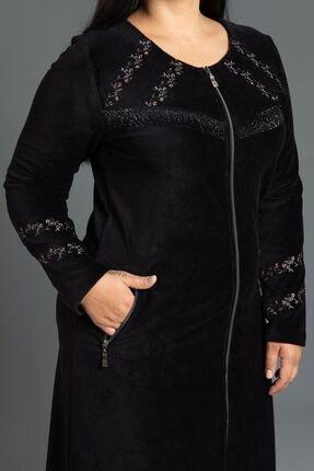 New Color Kısa Fitilli Kadife Elbise 2