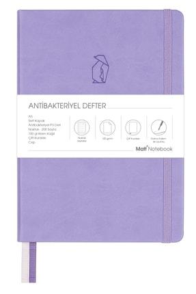 Matt Notebook A5 Antibakteriyel Defter Noktalı Lila 0