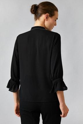 Koton Kadın Siyah Gömlek 0KAK68446PW 3