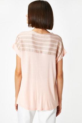 Koton Kadın Pembe T-Shirt 0YAK13167EK 2