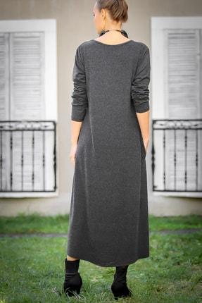 Chiccy Kadın Füme Gizli Cepli Yumoş Elbise C10160000EL97527 4