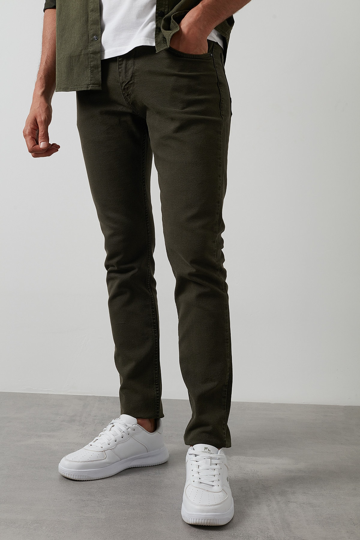 Buratti Erkek Haki 7267f4132zagor Regular Fit Pamuklu Jeans Kot Pantolon 0