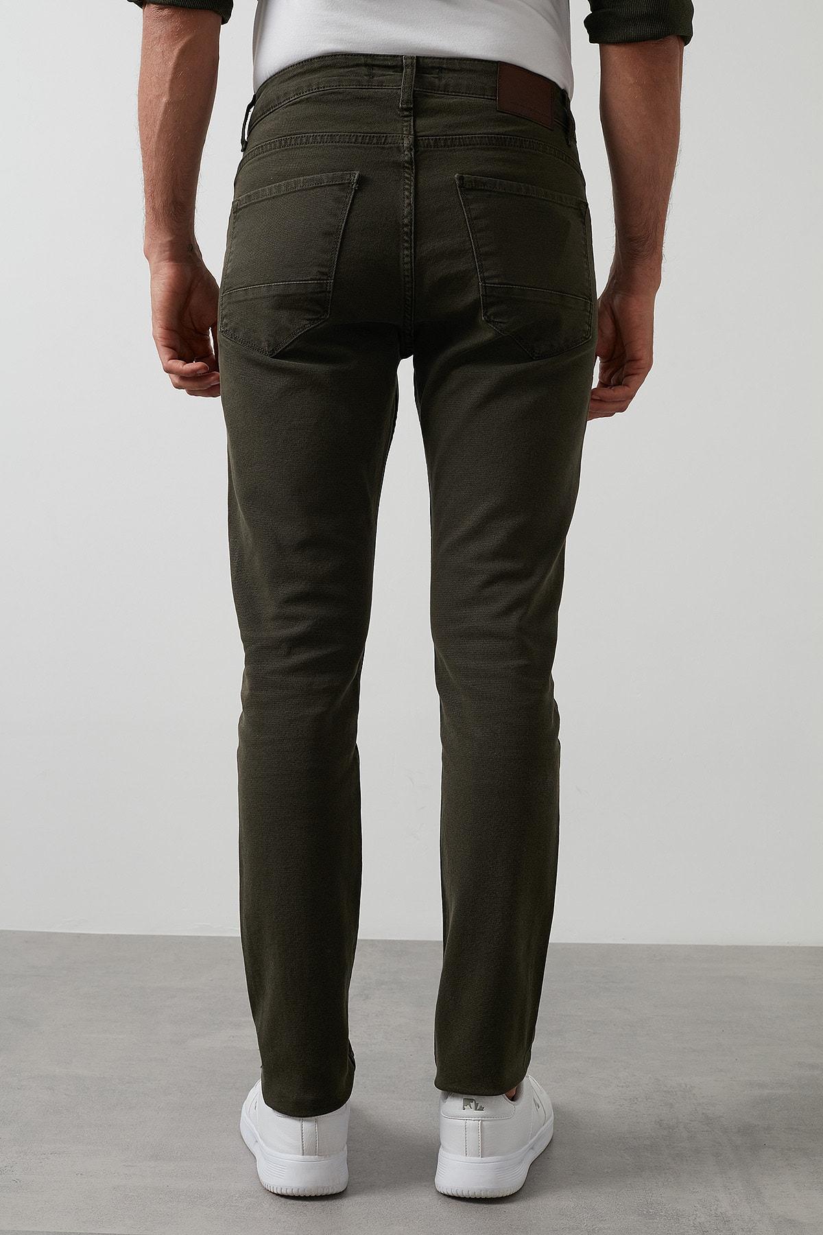 Buratti Erkek Haki 7267f4132zagor Regular Fit Pamuklu Jeans Kot Pantolon 1