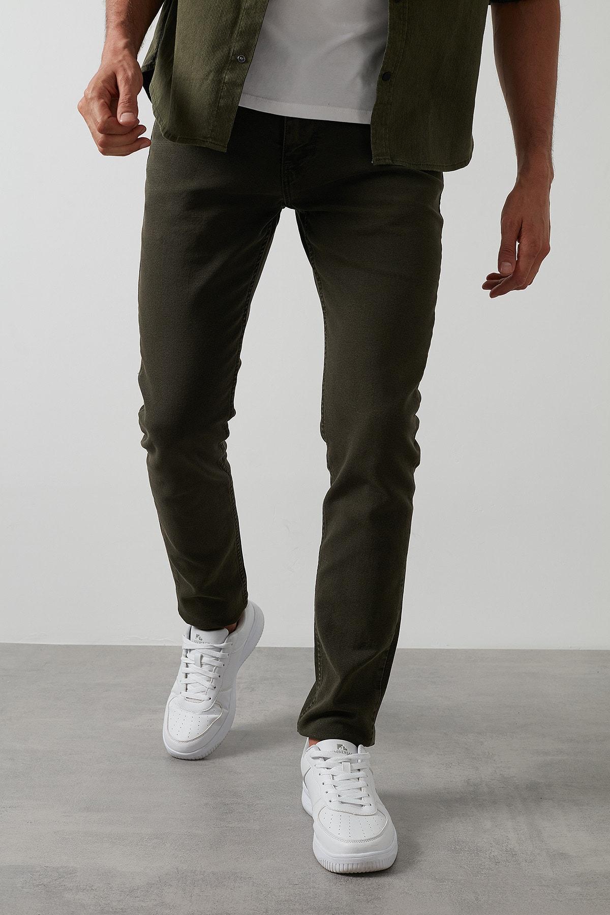 Buratti Erkek Haki 7267f4132zagor Regular Fit Pamuklu Jeans Kot Pantolon 3
