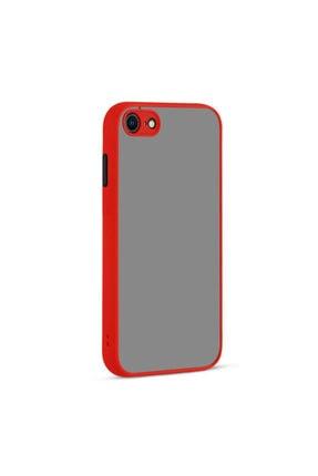 Fibaks Apple Iphone 8 Kılıf Kamera Korumalı Mat Renkli Buzlu Hux Silikon 0