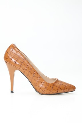 Ayakkabı Modası Kadın Kahverengi Topuklu Ayakkabı 0