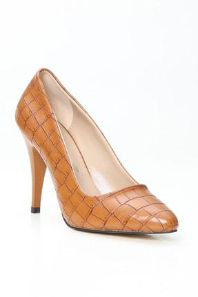 Ayakkabı Modası Kadın Kahverengi Topuklu Ayakkabı 1