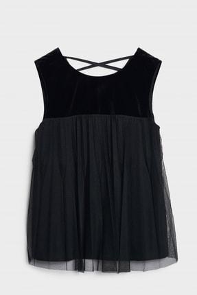 Yargıcı Kadın Siyah Pliseli Kolsuz Bluz 0KKGM6061X 3