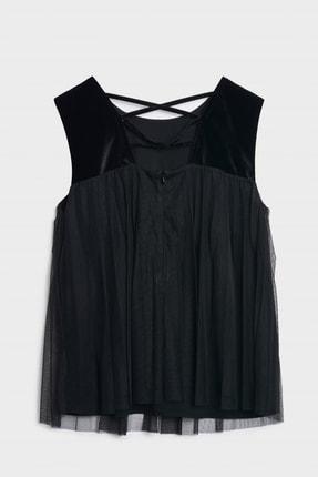 Yargıcı Kadın Siyah Pliseli Kolsuz Bluz 0KKGM6061X 4