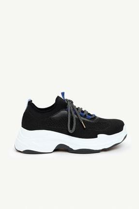 Kadın Siyah Örme Spor Ayakkabı 0KKAY4007X